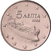 Image of Greece 5 cents coin