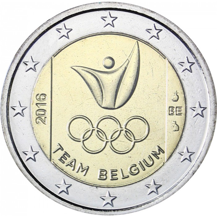 coin card belgium 2 euro 2016 rio de janeiro summer olympics eur30461. Black Bedroom Furniture Sets. Home Design Ideas