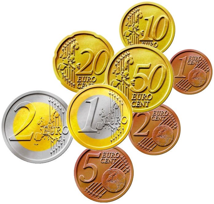 euro coins. Black Bedroom Furniture Sets. Home Design Ideas