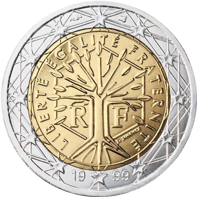 2001 2 euro coin