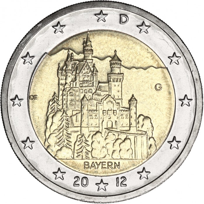 Germany 2 Euro 2012 Neuschwanstein Castle Bavaria Quot A