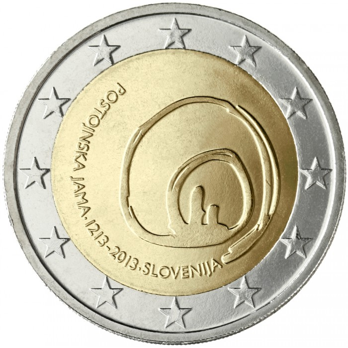 slovenia 2 euro 2013 800th anniversary of visits to. Black Bedroom Furniture Sets. Home Design Ideas