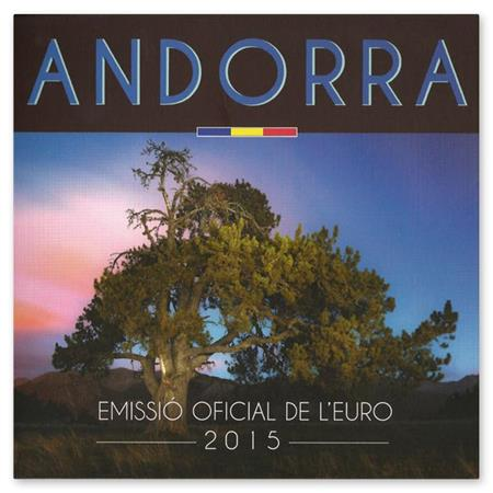 Obverse of Andorra Official Blister 2015