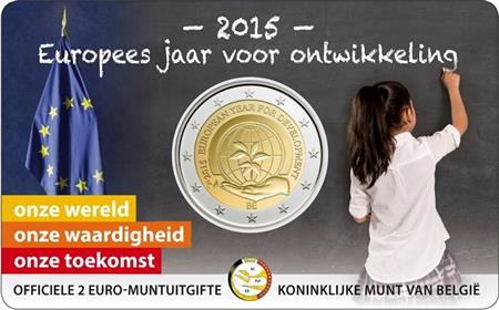 Obverse of Belgium 2 euros 2015 - European Year for Development