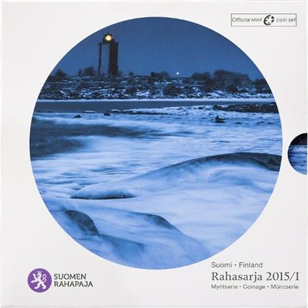 Obverse of Finland Official Blister - Lighthouses of Finland 2015