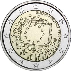 Obverse of Finland 2 euros 2015 - 30th anniversary of the EU flag
