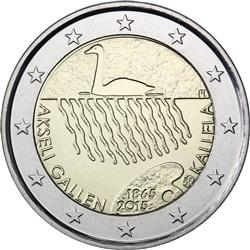 Obverse of Finland 2 euros 2015 - 150th anniversary of the birth of Akseli Gallen-Kallela