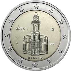 Obverse of Germany 2 euros 2015 - Paulskirche in Frankfurt