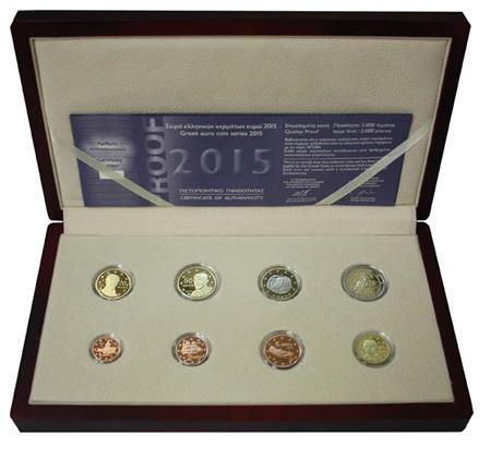 Obverse of Greece Proof Set 2015