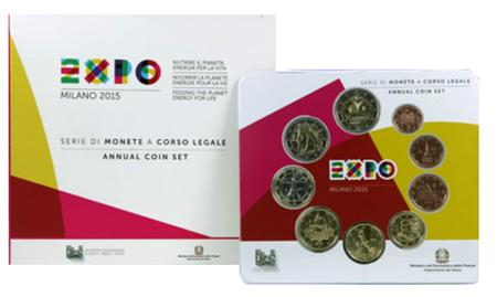 Obverse of Italy Official Blister - World Expo 2015