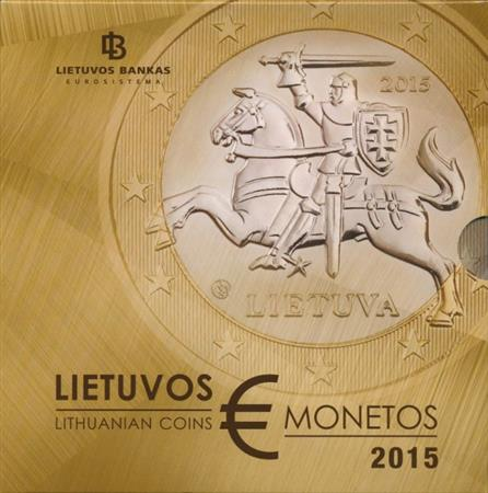 Obverse of Lithuania Official Blister 2015
