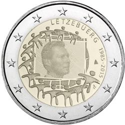 Obverse of Luxembourg 2 euros 2015 - 30th anniversary of the EU flag
