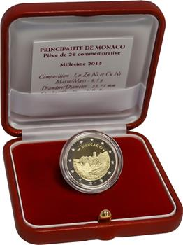 Obverse of Monaco 2 euros 2015 - Fortress on the Rock