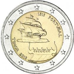 Obverse of Portugal 2 euros 2015 - 500 Years since the first Contact with Timor