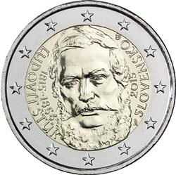 Obverse of Slovakia 2 euros 2015 - 200th Anniversary of the birth of Ľudovít Štúr
