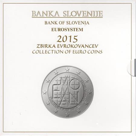 Obverse of Slovenia Official Blister 2015