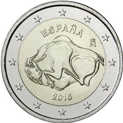 Obverse of Spain 2 euros 2015 - Cave of Altamira