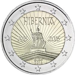 Obverse of Ireland 2 euros 2016 - 100 Years since the Easter Rising