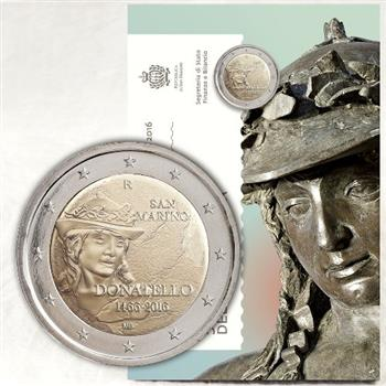 Obverse of San Marino 2 euros 2016 - 550 Years since the Death of Donatello