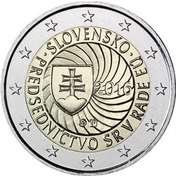 Obverse of Slovakia 2 euros 2016 - Slovak Presidency of the Council of the EU