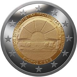 Obverse of Cyprus 2 euros 2017 - Pafos European Capital Culture