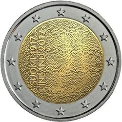 Obverse of Finland 2 euros 2017 - 100 years of Independence