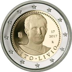 Obverse of Italy 2 euros 2017 - 2000 years since the death of Titus Livius