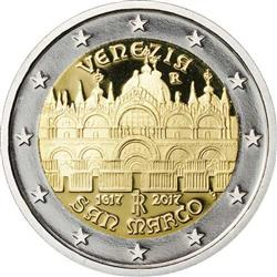 Obverse of Italy 2 euros 2017 - St Mark's Basilica in Venice