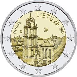 Obverse of Lithuania 2 euros 2017 - Vilnius City of Culture