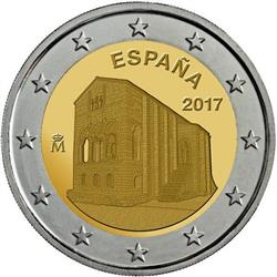 Obverse of Spain 2 euros 2017 - Monuments Oviedo and the Kingdom of Asturias