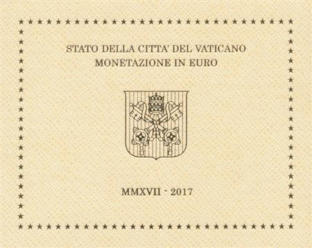 Obverse of Vatican Official Blister 2017