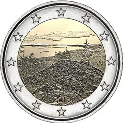 Obverse of Finland 2 euros 2018 - Koli National Park
