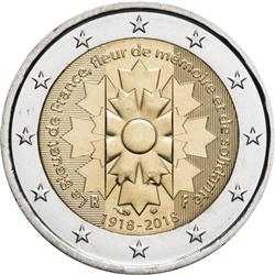 Obverse of France 2 euros 2018 - Cornflower - Bleuet de France