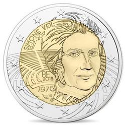 Obverse of France 2 euros 2018 - Simone Veil