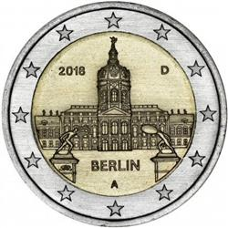 Obverse of Germany 2 euros 2018 - Charlottenburg Palace in Berlin
