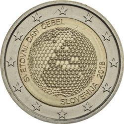 Obverse of Slovenia 2 euros 2018 - World Bees Day