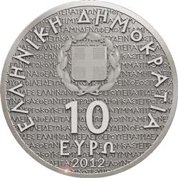 Obverse of Greece 10 euros 2010 - Aeschylus
