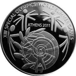 Reverse of Greece 10 euros 2011 - Panathenean Stadium - Special Olympics 2011