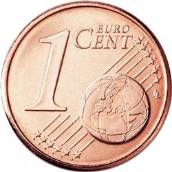 Reverse of Greece 1 cent 2013 - Athenian triere