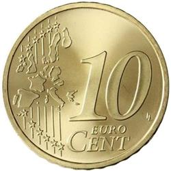 Reverse of Greece 10 cents 2007 - Rigas-Fereos Velestinlis