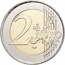 Reverse of Greece 2 euros 2008 - Europa abducted by Zeus