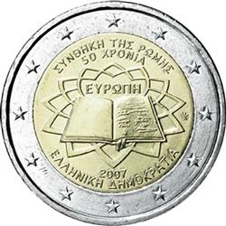 Obverse of Greece 2 euros 2007 - 50th anniversary of the Treaty of Rome