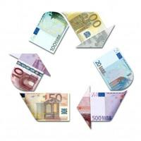 Euro Banknote recycling sign
