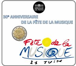Obverse of France 2 euros 2011 - 30th Anniversary of Fete de la Musique
