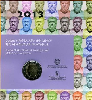 Obverse of Greece 2 euros 2013 - Founding of the Platonic Academy