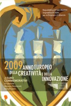Obverse of San Marino 2 euros 2009 - European Year of Creativity and Innovation
