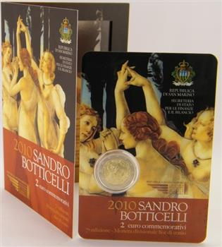 Obverse of San Marino 2 euros 2010 - 500th Anniversary of the death of Sandro Botticelli