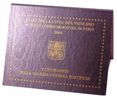 Obverse of Vatican 2 euros 2006 - 5th Centenary of the Swiss Pontifical Guard