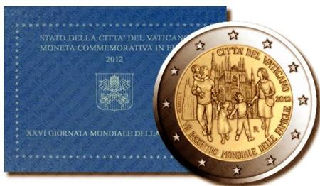 Obverse of Vatican 2 euros 2012 - 7th World Meeting of Families - Milan