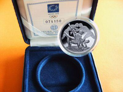 Obverse of Greece 10 euros 2004 - Wrestling - Series E